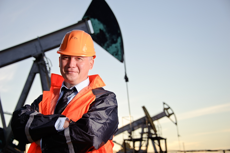 Engineer in an Oil field